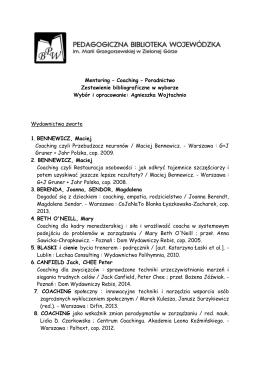 Mentoring – Coaching – Poradnictwo Zestawienie bibliograficzne w