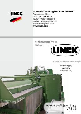 VPS 35 Niezastąpiony w tartaku .... - Linck Holzverarbeitungstechnik