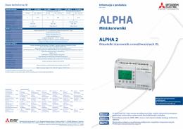 Mitsubishi Alpha 2 - broszura