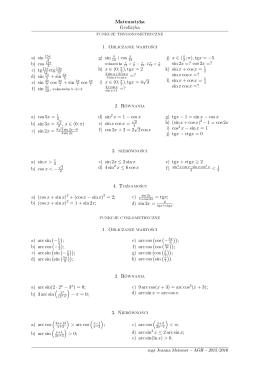 funkcje trygonometryczne 1. Obliczanie warto±ci 2. Równania 3