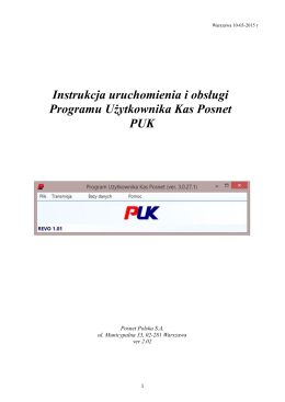 Program PUK - fiddex kasy fiskalne