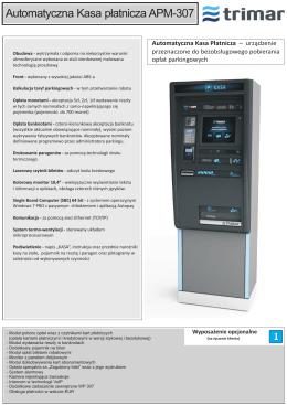Automatyczna Kasa płatnicza APM-307