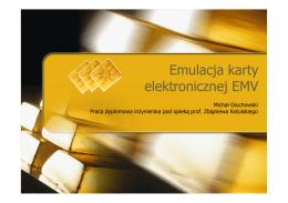 Emulacja karty elektronicznej EMV