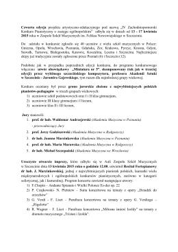 z archiwum IV Zachodniopomorskiego Konkursu Pianistycznego