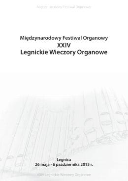 XXIV Legnickie Wieczory Organowe – program ()