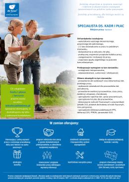 kadry i płace - Kariera w De Heus