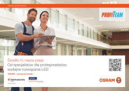 Światło to nasza pasja Od specjalistów dla - LED