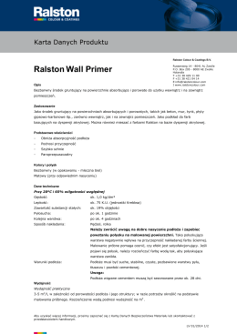 Ralston Wall Primer - Ralston Colour Systems B.V.