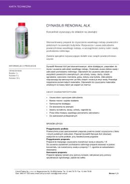 Karta Techniczna Dynasil® Renowal ALK