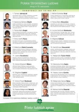 Kandydaci do Sejmu