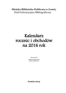 2016 rokiem bibliotek - Miejska Biblioteka Publiczna w Łomży
