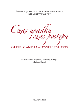 OKRES STANISŁAWOWSKI 1764–1795 - Krakowski Portal Edukacji