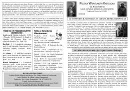 Biuletyn nr 6 z 10.01.2016 - Polska Parafia Św. Brata Alberta w