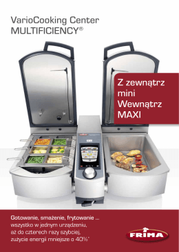 VarioCooking Center MULTIFICIENCY® Z zewnątrz mini Wewnątrz