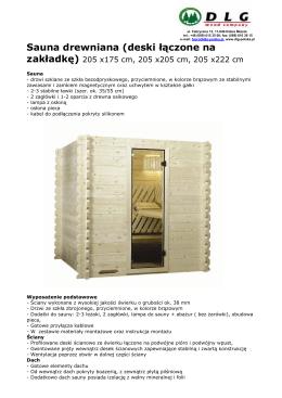 Wyprzedaż: sauny i kabiny