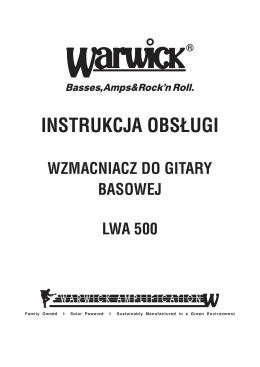 instrukcja obsługi wzmacniacz do gitary basowej lwa 500