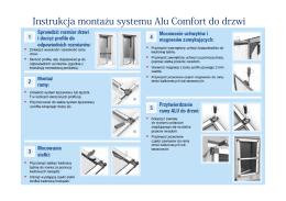 Instrukcja montażu systemu Alu Comfort do drzwi