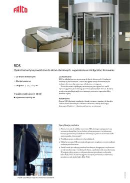Dyskretna kurtyna powietrzna do drzwi obrotowych, wyposażona w