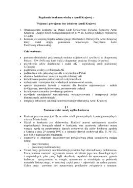 Regulamin konkursu wiedzy o Armii Krajowej - AK