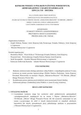 regulamin 2015-2016 - Muzeum Historyczne w Legionowie
