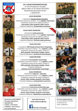 XVI LICEUM OGÓLNOKSZTAŁCĄCE im. Armii Krajowej w Tarnowie