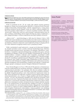 Tautomeria zasad purynowych i pirymidynowych