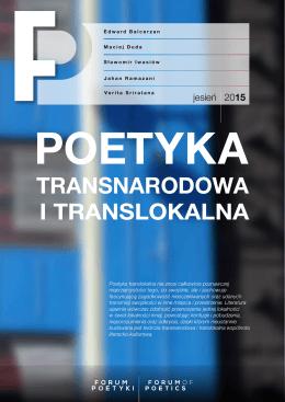 TRANSNARODOWA I TRANSLOKALNA - Forum Poetyki