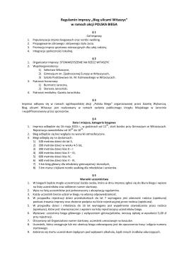 Regulamin Polska Biega 2015 - Stowarzyszenie na Rzecz Witaszyc