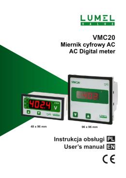 Miernik cyfrowy AC AC Digital meter Instrukcja obsługi