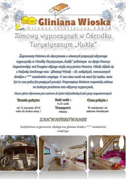 Oferta Zimowa - KUKLE Ośrodek Wypoczynkowy w Puszczy