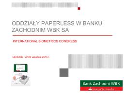 oddziały paperless w banku zachodnim wbk sa