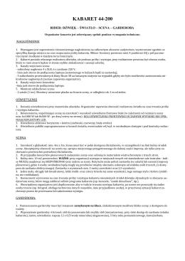 Rider Techniczny PDF - Kabaret 44-200
