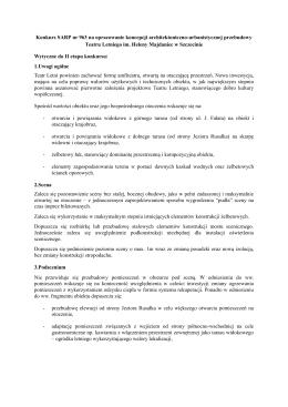 Wytyczne do II etapu konkursu