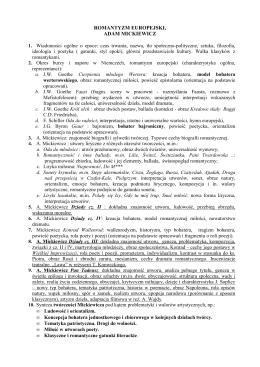 klasa ii d - sprawdzian z romantyzmu cz. 1