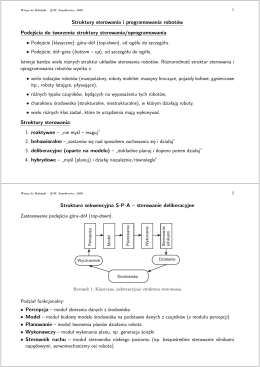 Struktury sterowania i programowania robotów Podejścia