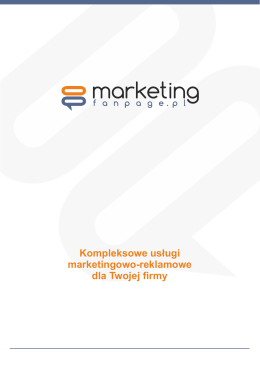 Pobierz katalog - Marketing Fanpage
