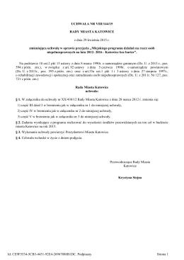 Uchwala Nr VIII/144/15 z dnia 29 kwietnia 2015 r.