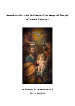 Nawiedzenie Obrazu Św. Józefa - Parafia pw. Wszystkich Świętych