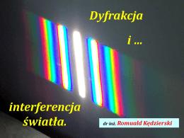 PRM. Dyfrakcja i interferencja fal. - Romuald Kędzierski