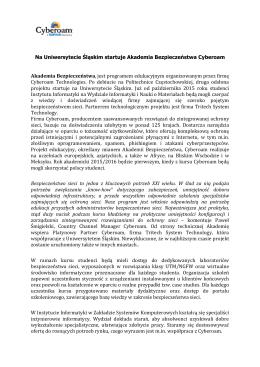 Na Uniwersytecie Śląskim startuje Akademia Bezpieczeństwa