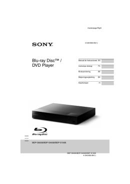 Blu-ray Disc™ / DVD Player
