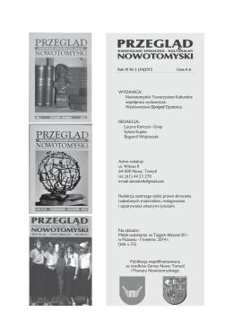Czytaj w PDF 10 MB - Nowotomyskie Towarzystwo Kulturalne