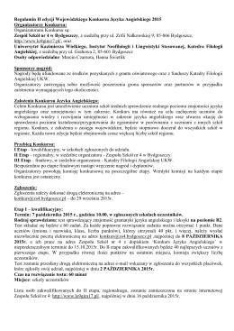Regulamin konkursu - Zespół Szkół nr 4 w Bydgoszczy