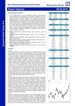 Wzrosty cen obligacji europejskich