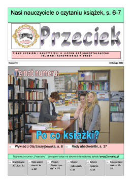 Gazetka - II Liceum Ogólnokształcące im. M. Konopnickiej w Łomży