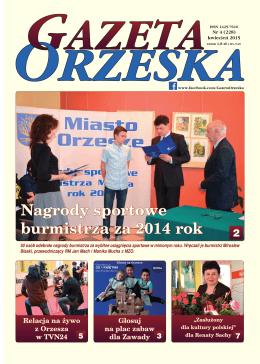Nagrody sportowe burmistrza za 2014 rok