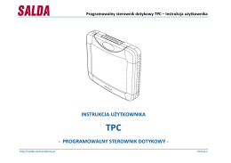Programowalny sterownik dotykowy TPC – Instrukcja użytkownika