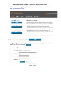1 Instrukcja aktualizacji informacji o publikacjach na profilu