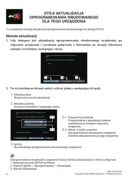 dts:x aktualizacja oprogramowania wbudowanego dla tego