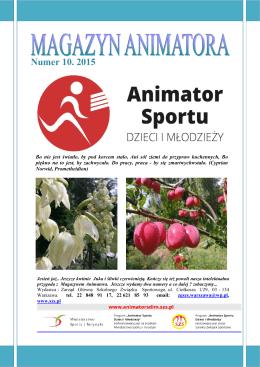 Numer 10. 2015 - Animator Sportu Dzieci i Młodzieży